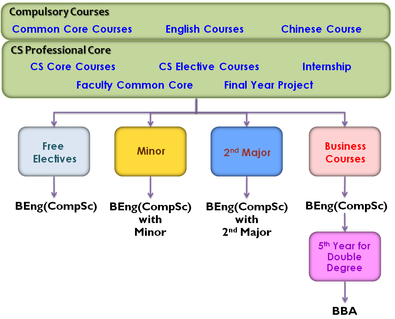 Study Path for BEng(CompSc)